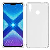 TIYA Case Clear for Huawei Honor 8X Honor View 10 Lite TPU Four Corners Cover Transparent Soft