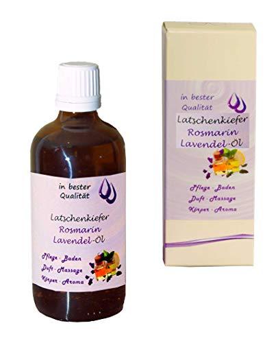 Latschenkiefer-Rosmarin-Lavendel-Öl; als Massageöl-Badeöl-Duftöl-Körperöl (Latschenkiefer-Rosmarin-Lavendel, 1x 100 ml)