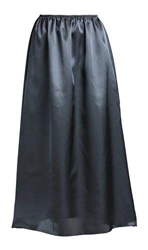 (ペチコート屋)マキシ丈透けないシンプルペチコート80cm丈M~L(ヒップ87~100cm)ブラック