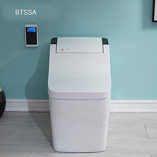 ZJZ Einteilige Toilette mit Bidet-Funktion Auto-Sensing-Flip Schaumspülung Home Smart Electric WC
