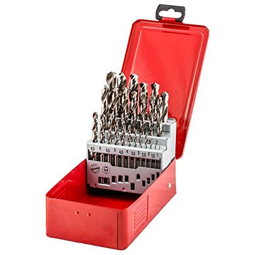 fischer 536605 HSS-G Drill Bits Sizes, 1-13 mm, Practical Set, 25 Metal Drills, Grey