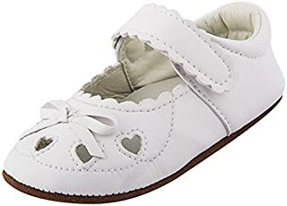 Lidiano Baby Girl Soft Rubber sole Non Slip Mary Jane Sandles Toddler Slippers Shoes Loafers 0-18 Months (12-18 Months White) [並行輸入品]