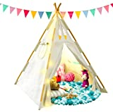 Tazztoys Kids Teepee Tent for Kids with Fairy Lights...