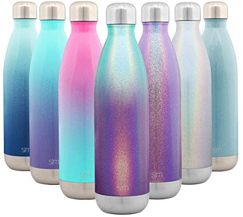 Simple Modern 25 Ounce Wave Water Bottle - Stainless Steel Double Wall Vacuum Insulated Metal Reusable - Leakproof Ombre: Aurora