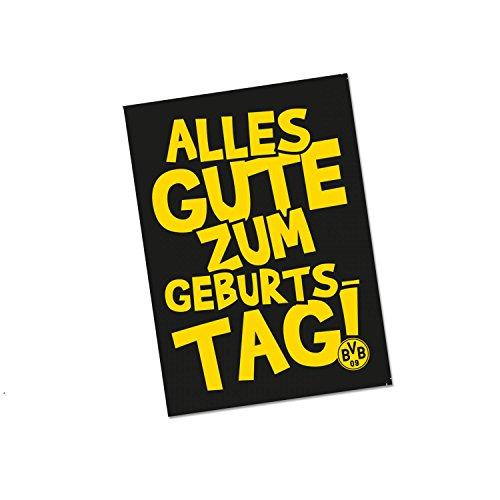 Borussia Dortmund Geburtstagskarte, Glückwunsch Karte, Klappkarte BVB 09 (L)