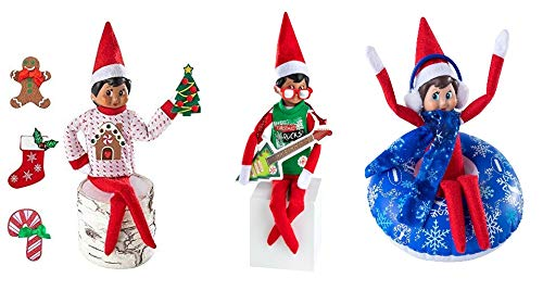 The Elf on the Shelf Holiday Outfit Set - Sweater, Rock and Roll Set and Snow Tube - 2019 Outfit Value Pack