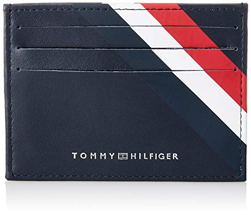 Tommy Hilfiger - Bold Corporate Cc Holder, Tarjeteros Hombre, Azul (Corporate), 1x7.2x10.4 cm (B x H T)