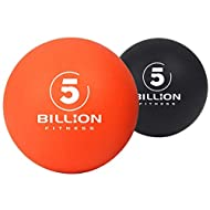 5BILLION Massage Lacrosse Balls Stress Balls - Deep Tissue Massage Ball for Myofascial Release, Trigger Point Therapy, Muscle Relax, Physical Therapy (Pack of 2)