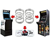 Alvatron Set of 2 Joystick 6lb Tension Springs for Arcade1up, AtGames Legends Ultimate Arcade, Pandora's Box, Sanwa JLF, Golden Axe NBA JAM TMNT Mortal Kombat 2 Marvel Super Heroes Street Fighter 2
