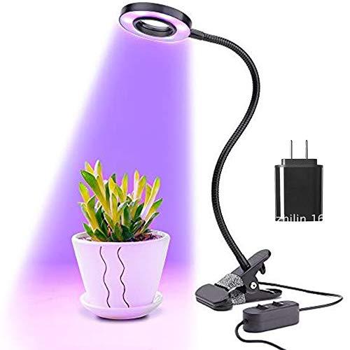 HORIFEN Erstellbar 10W Pflanzenlicht Wachstumlampe mit Stecker für Zimmerpflanzen Hydroponik Gewächshaus Balkon