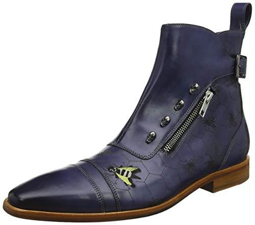 Melvin & Hamilton Herren Elvis 25 Klassische Stiefel, Blau (Marine Crust-Marine), 41 EU