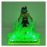 MOLUO 3D Luz de la Noche Dragon Ball Super Broly Broli Figuras de Acción Verde Escena Efecto...