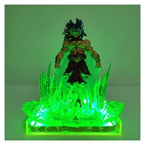 MOLUO 3D Luz de la Noche Dragon Ball Super Broly Broli Figuras de Acción Verde Escena Efecto Animado Dragon Ball Broly Goku lámpara Modelo de la Figura Figura