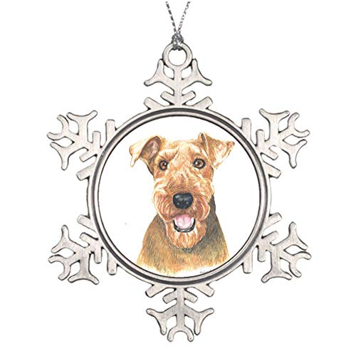 Christmas Ornaments, Airedale Terrier Ornament Tree Hanging Decor Gift for Families Friends,3 Inch