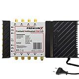 Bild des Produktes 'PremiumX PXMS 5/8 Multischalter mit Netzteil Multiswitch 1 SAT für 8 Teilnehmer Satverteiler Digital HDTV FullHD 4K'