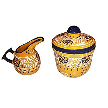 Encantada - Ceramic Sugar Bowl And Creamer Set (Jarra de Leche y Azucarero)