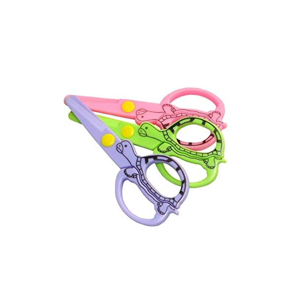 3pcs plástico de seguridad de plástico Tijeras de punta roma Kid y de seguridad del niño Tijeras del arte para el…
