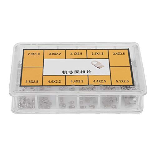 Pangdingk Uhrengehäuseklemme, Mini-Kleinschrauben-Kits Uhrwerk Adapter Sicherungsschraube Hochpräzise für ETA2836 / 2824 Uhrenzubehör, Uhrenwerkzeug für Uhrmachergläser