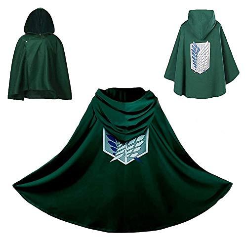 HGYGY Disfraz de Anime Cosplay Los alas de Freedom Aot Cloak Hoodie Abrigos, Ropa Mgica, Clido, Soft, Cmodo, Escena de la exposicin, Ambiente Divertido
