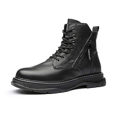 shoe Botas Martin para Hombre, Botas Cortas cálidas de Cuer