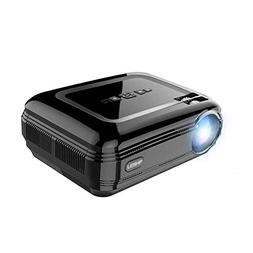 Yxian Beamer LESHP-BL58 LED Projector Portable Black Video Projector for Home Theater Drama Projector HDMI VGA USB WiFi for Android