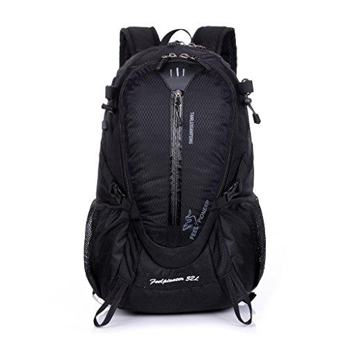 Skysper- Zaino da Viaggio Impermeabile 20-35L Escursionismo Multifunzione per Sport Nero