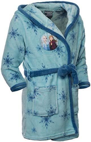 Brandsseller Kinder Kapuzen Bademantel - mit Motiven im Stil von Frozen 2-122/128 Hellblau