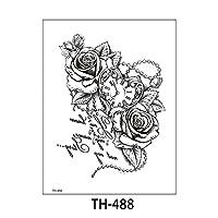 7個防水一時タトゥーステッカーフラワーローズフラッシュタトゥーセクシータトゥースネークキャットボディアートアームフェイクスリーブタトゥー女性 TH-488