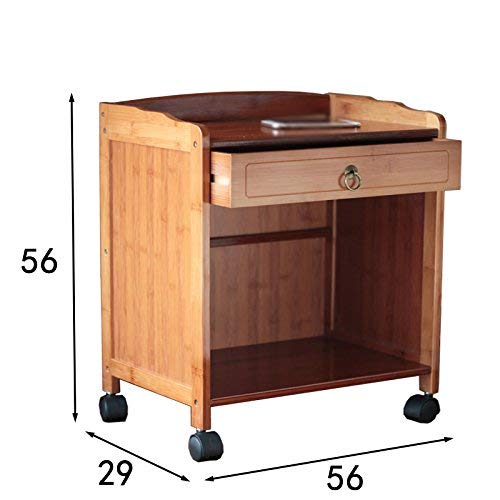 Shelf Opbergkast, geschikt voor keuken, woonkamer, kantoor, woonkamer, rolgordijn, opbergruimte voor plank, opbergruimte voor keuken, woonkamer, slaapkamer, catch, nachtkastje, badkamer 56 cm 2-tier