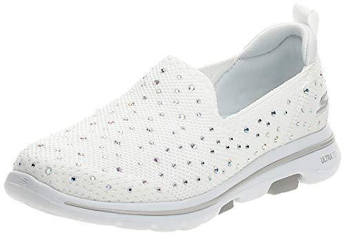 Skechers Damen GO Walk 5-Limelight Sneaker, Weiß, 35.5 EU