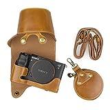 MUZIRI KINOKOO - Funda para cámara Sony A7C y lente de 28-60 mm, funda protectora para Sony Alpha 7C con correa para el hombro, bolsa de almacenamiento, color marrón