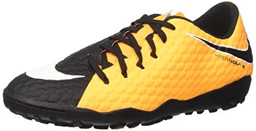 Nike Hypervenomx Phelon III TF, Botas de fútbol Hombre, Naranja (Laser Orange/Black/Black/Volt/White/Whit), 45 EU