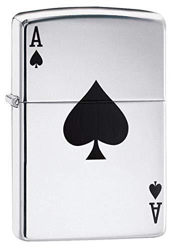 Zippo Ace Winddichtes Feuerzeug, Edelstahl, Silver, 10.2 x 8.9 x 5.1 cm