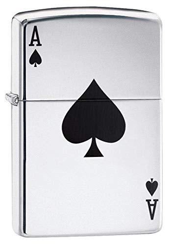 Zippo 24011 Ace of Spades Pocket Lighter High Polish Chrome One Size