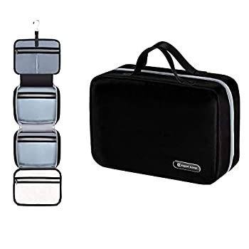 Hanging Travel Toiletry Bag for Men and Women   Makeup Bag   Cosmetic Bag   Bathroom and Shower Organizer Kit   Leak Proof   2 Sizes - Large  34 x11   & XL Family Size  42 x13