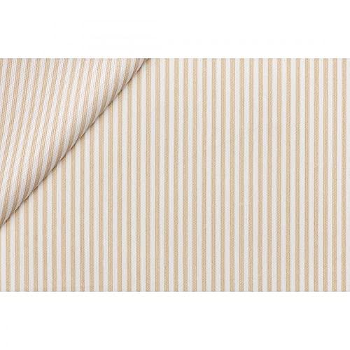 Tela de algodón Millerighi estampada a rayas 50 cm – Beige