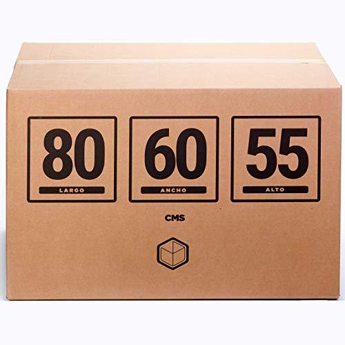 TeleCajas® | Cajas de Cartón Gigantes Baul | Doble Pared REFORZADA | 80x60x55 cms | Pack 4 uds (4x)