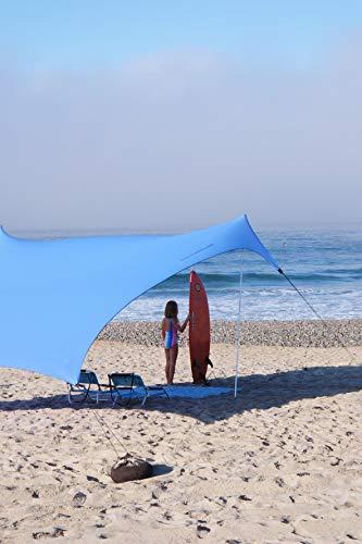 Neso Tienda Tents Gigante Beach, 2,5 m (8 pies) de Altura, 3,4 m (11 pies) x 3,4 m (11 pies), Esquinas reforzadas y un Bolsillo más frío (Bígaro Azul)