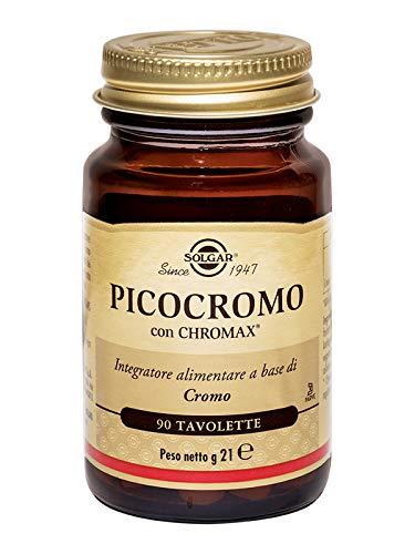 Solgar Picolinato de Cromo Comprimidos de 100 µg, Blanco, Envase de 90...