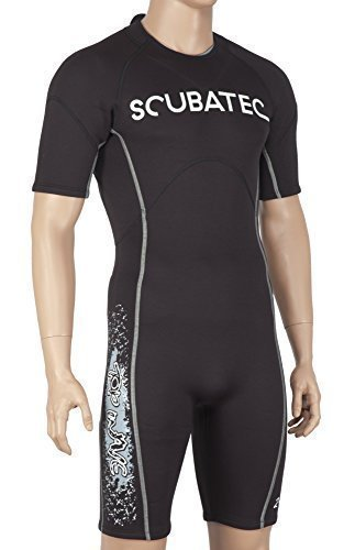 Scubatec 2mm Shorty Top Wave, schwarz-grau, 60 (4XL)
