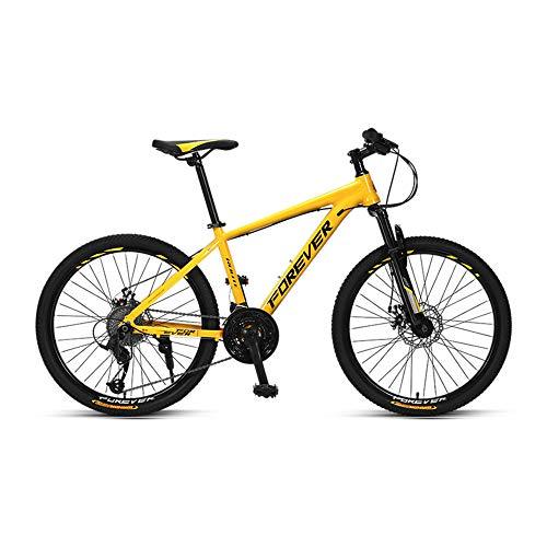Bicicleta, Bicicleta Todo Terreno, Bicicleta de Montaña con 27 Velocidades, Bicicleta de Carretera para Adolescentes, con Asiento Ajustable y Cuadro de Aleación de Aluminio, para niños o niñas /