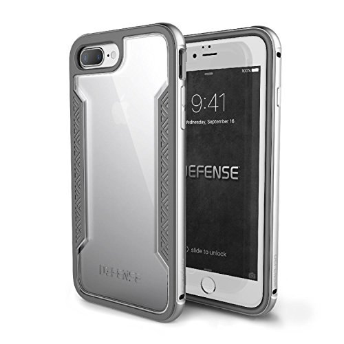 Capa Iphone 7/8 Plus X-Doria Defense Shield Military Grade em Alumínio Premium c/ Película Premium 3D c/ Bordas, X-Doria, 3X180201A, Prata