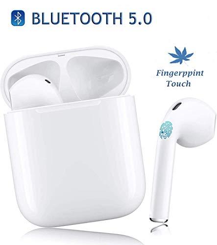 HJNAN Auriculares inalámbricos, Control táctil de Auriculares Bluetooth, Auriculares Impermeables con micrófono, reducción de Ruido 3D, Compatible iPhone/Android/Airpods2/Airpods Pro