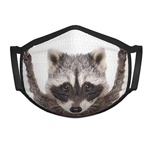 BIT Portrait Funny Waschbär Show Zeichen Frieden Tier Katze Unisex Maske Süße Mode Reiten Bergsteigen Grillen Outdoor Sport