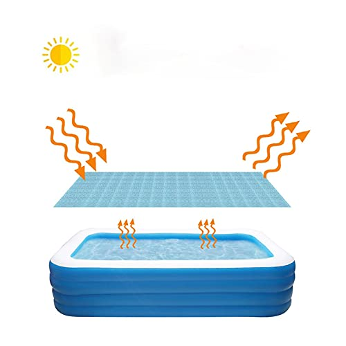 Primlisa Pool Solarfolie/Abdeckung,Pool Cover Solarabdeckplane verringert Wasser-Verdunstung, Rund/Rechteckig Frame Solarplane für Schwimmbad, Regenschutz Staubdicht UV-beständig