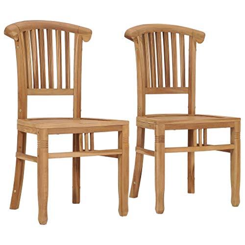 FAMIROSA Garden Chairs 2 pcs Solid Teak Wood-9433