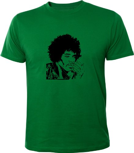 Mister Merchandise Cooles Herren T-Shirt Jimmy Hendrix, Größe: XL, Farbe: Grün