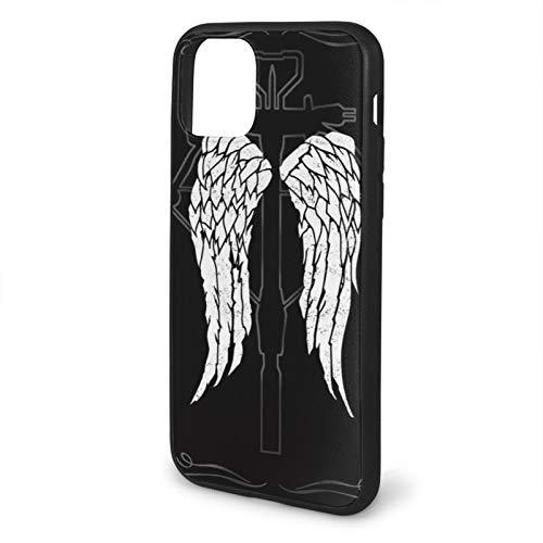 Dixon Norman Wings Zombie Reedus Zombies Crossbow Walkers Daryl Walker Compatible con iPhone 12/12 Pro MAX 12 Mini 11 Pro MAX SE 2020 X/XS MAX XR 8/7 6/6s Plus Fundas de teléfono de protección Negra