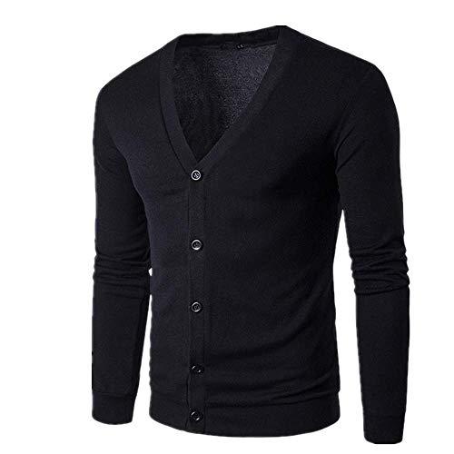 Hombres Suéter Chaqueta Otoño Invierno Delgado Casual Punto Abrigo Para Hombre Color Sólido Slim Cardigan Nuevo Masculino Un solo Botonadura Ropa de abrigo