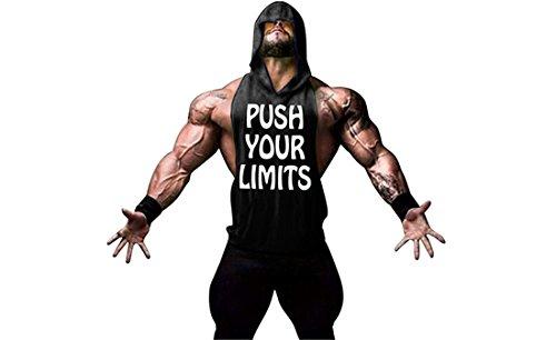 YeeHoo Herren Sport T-Shirt Sweatshirt Hood West Tank Top Bodybuilding Stringer Kapuzenshirt
